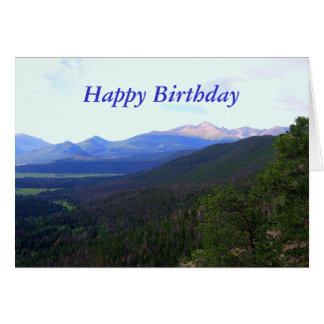 Happy Birthday Longs Peak Colorado Card
