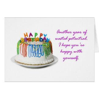 Happy Birthday, Loser Card