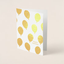 Happy Birthday Lots of Balloons Foil Card