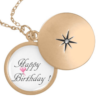 Happy Birthday Love Gold Plated Necklace