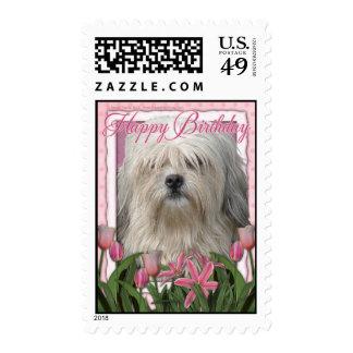 Happy Birthday - Lowchen Postage Stamps
