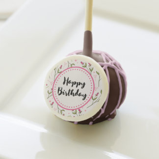 Happy Birthday Lush Green Clovers & FAUX Gold Foil Cake Pops
