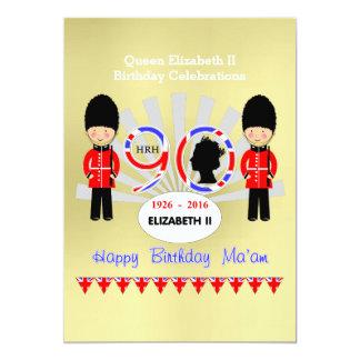 Happy Birthday Ma'am Queen Elizabeth II 90th Party Card