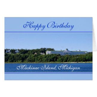 Happy Birthday Mackinac Island Michigan Card
