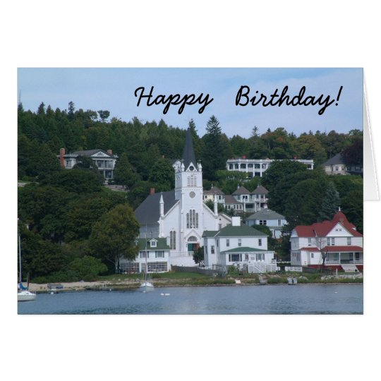 Happy Birthday Mackinaw Island Card
