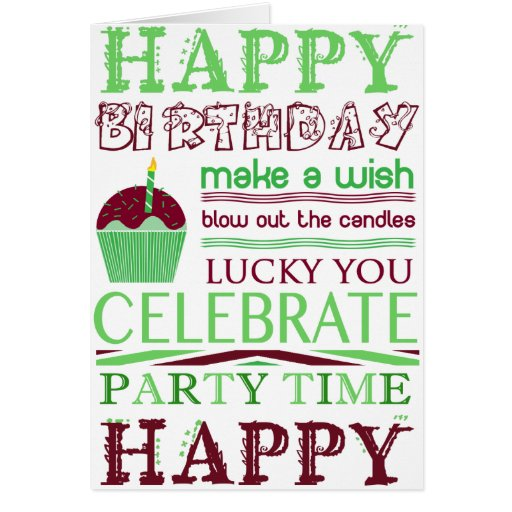 Happy Birthday Make A Wish Greeting Card Zazzle How To Wish In Happy Birthday