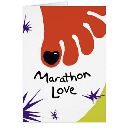 Happy Birthday Marathoner - Black Toenail Card
