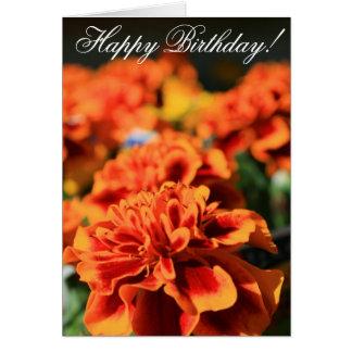 Happy Birthday Marigold Greeting Card