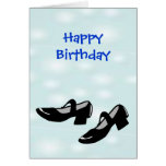Happy Birthday Mary Janes Dance Shoes for Dancers Greeting Cards