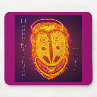 Happy Birthday Mask Mouse Pads