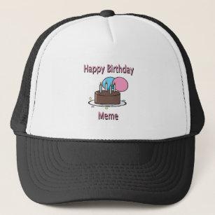 French Happy Birthday Baseball Trucker Hats Zazzle
