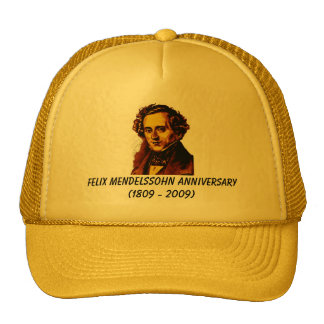 happy birthday mendelssohn trucker hat