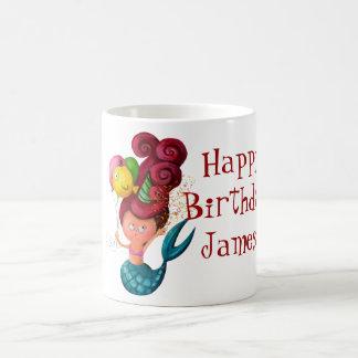 Happy Birthday Mermaid Coffee Mug