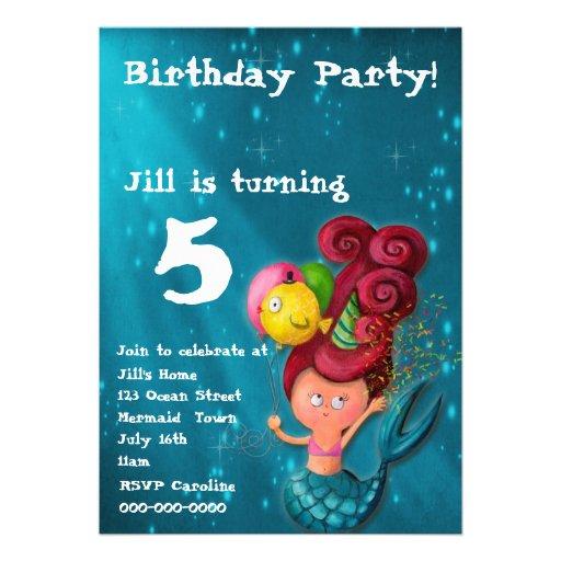 Happy Birthday Mermaid Invitation