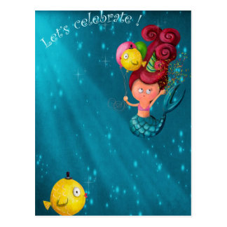 Happy Birthday Mermaid Postcard