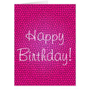 Happy Birthday Mermaid Print Oversized Card
