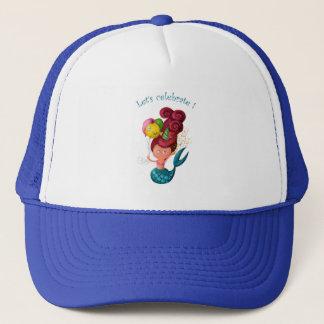 Happy Birthday Mermaid Trucker Hat