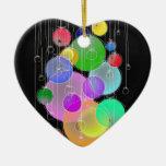 Happy Birthday & Merry Christmas... Double-Sided Heart Ceramic Christmas Ornament