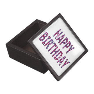 Happy Birthday Message Keepsake Box
