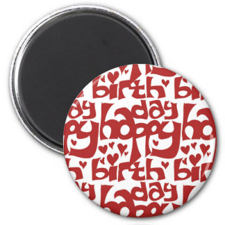 happy birthday message with hearth magnet