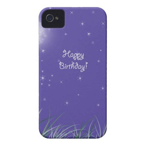 Happy birthday Midnight Moon Fantasy Case-Mate iPhone 4 Cases