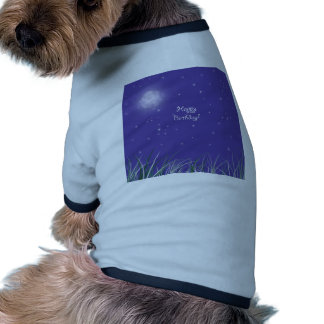 Happy birthday Midnight Moon Fantasy Dog T Shirt