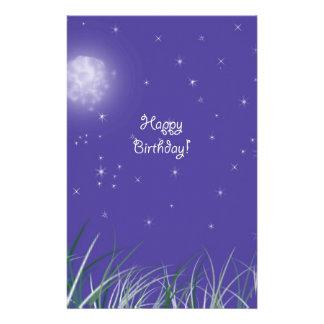 Happy birthday Midnight Moon Fantasy Stationery