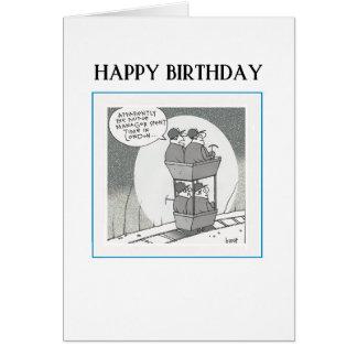 Happy Birthday Mining Card - (a)