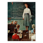 Happy Birthday, Miss Jones by Norman Rockwell Card