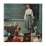 "Happy Birthday, Miss Jones by Norman Rockwell Ceramic Tile<br><div class=""desc"">Happy Birthday,  Miss Jones by Norman Rockwell   March 17,  1956</div>"