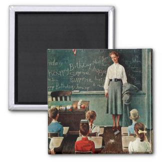 Happy Birthday, Miss Jones by Norman Rockwell Magnet