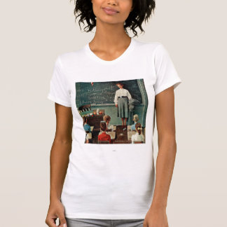 Happy Birthday, Miss Jones by Norman Rockwell T-Shirt