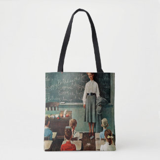 Happy Birthday, Miss Jones by Norman Rockwell Tote Bag