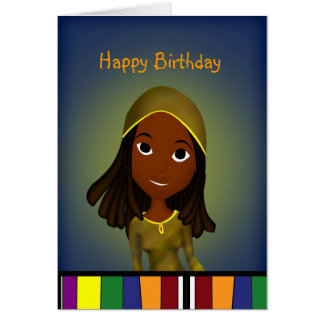 Happy Birthday Miss locs Card