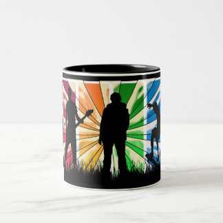 Happy Birthday modern male Two-Tone Coffee Mug