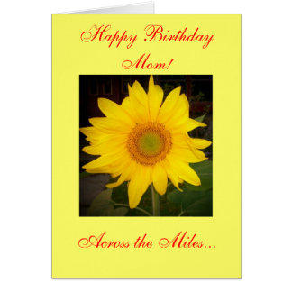 Happy Birthday Mom! Across the Miles Card