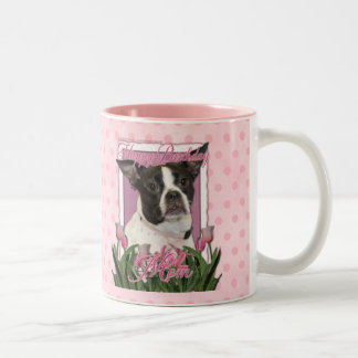 Happy Birthday Mom - Boston & Rat Terrier - Jazy Two-Tone Coffee Mug