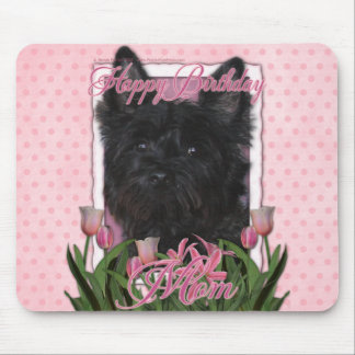Happy Birthday Mom - Cairn - Black - Rosco Mouse Pad