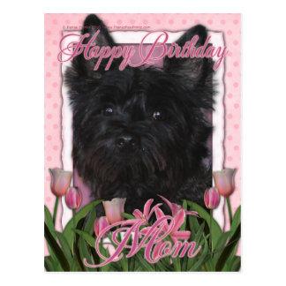 Happy Birthday Mom - Cairn - Black - Rosco Postcard