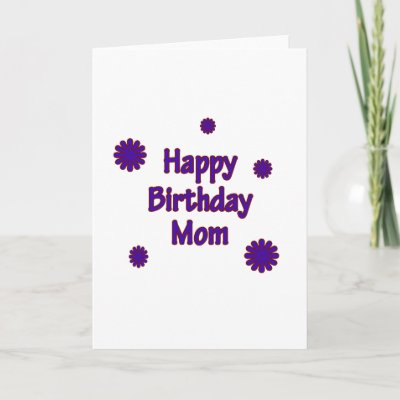 """Happy Birthday Mom Cards by fullofNuts. Cute """"Happy Birthday Mom"""" Design."""