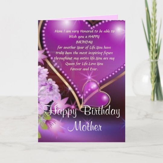 Happy Birthday Mom Card Zazzle