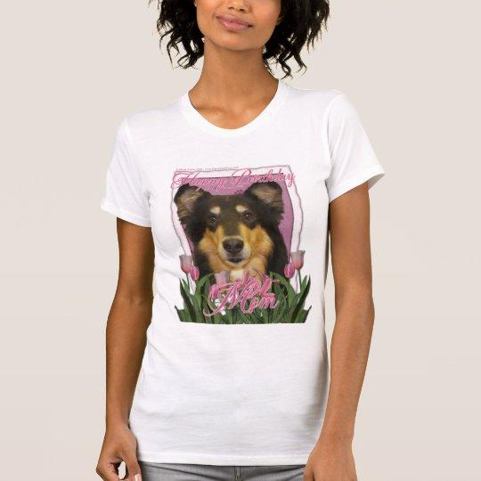 Happy Birthday Mom - Collie - Caroline T-Shirt
