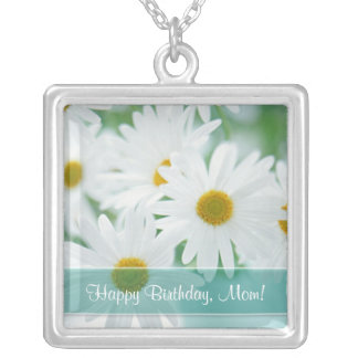 Happy Birthday, Mom! - Daisy Pendant Necklace
