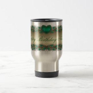 Happy Birthday mom decorative elegant banner mugs