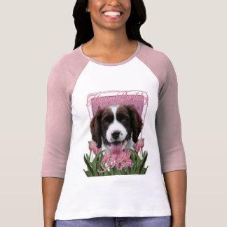 Happy Birthday Mom English Springer Spaniel Baxter T-Shirt