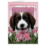 Happy Birthday Mom - English Springer Spaniel Cards