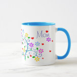 Happy Birthday Mom Flower Cup With We *Heart* You