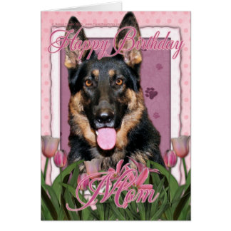 Happy Birthday Mom - German Shepherd - Kuno Card