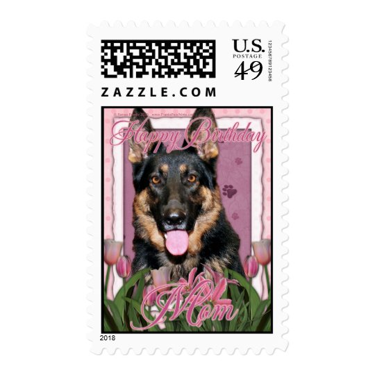Happy Birthday Mom - German Shepherd - Kuno Postage