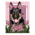 Happy Birthday Mom - German Shepherd - Kuno Postcards